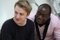 Stevie Webb and Terry Doe in rehearsals © Jack Sain 2013.