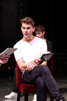 'Four Play' (Old Vic). Jeremy Irvine in performance. © Jack Sain 2015