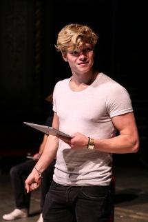 'Four Play' (Old Vic). Tom Rhys Harries in performance. © Jack Sain 2015