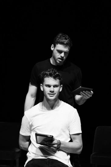 'Four Play' (Old Vic). Richard Madden & Jeremy Irvine in performance. © Jack Sain 2015