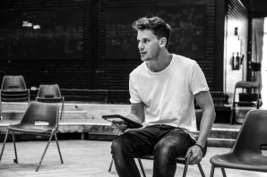 'Four Play' (Old Vic). Jeremy Irvine in rehearsal. © Jack Sain 2015