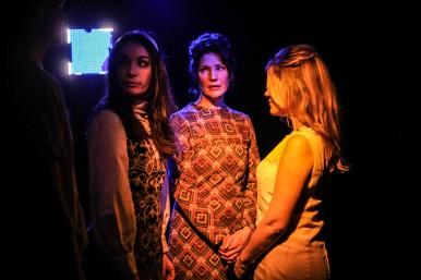 Bryony Corrigan, Holly Hayes, Olivia Poulet. 'How I Learned To Drive' trailer shoot. © Jack Sain 2015
