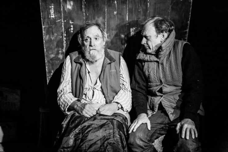 David Fielder and Nigel Hastings in performance. 'And Then Come The Nightjars', Theatre503. © Jack Sain 2015