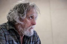 David Fielder and Nigel Hastings in rehearsal. 'And Then Come The Nightjars', Theatre503. © Jack Sain 2015
