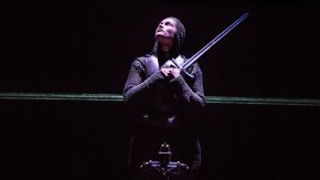 Gemma Arterton (Joan) in the Donmar Warehouse's production of Saint Joan. Dir Josie Rourke. Photo Jack Sain
